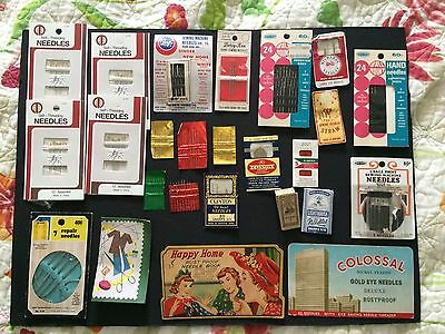 Vintage New Used packs Lot of sewing needles sharps West Germany USA steel