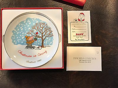 ZIGGY Christmas is Caring Plate Christmas 1980 Designers Collection Tom Wilson