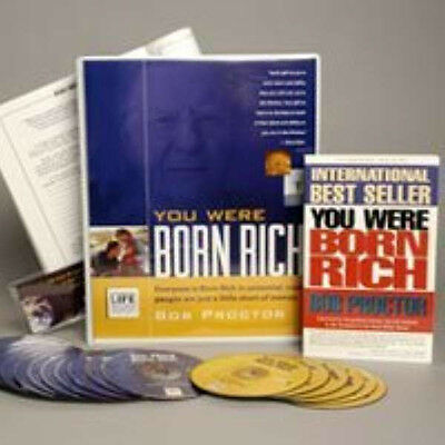 NEW Bob Proctor You Were Born Rich 6 DVD+15 CD (MSRP $595) SAVE $300 SEALED RARE