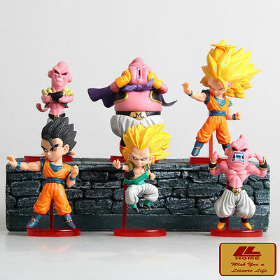Anime Dragon Ball Z Majin Boo Super Saiyan Goku Gohan Gotenks 6pcs figures set