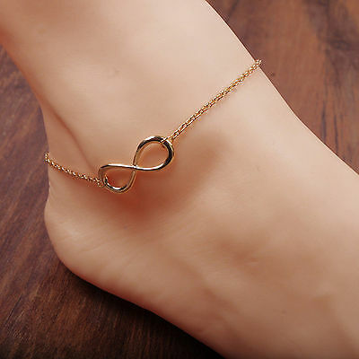 Women Gold/Silver Chain Ankle Anklet Bracelet Barefoot Sandal Beach Foot Jewelry