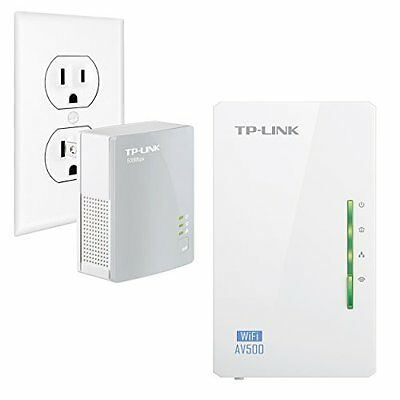 TP-LINK ADVANCED AV500 Wi-Fi Powerline Extender Starter Kit- Up to 300Mbps NEW