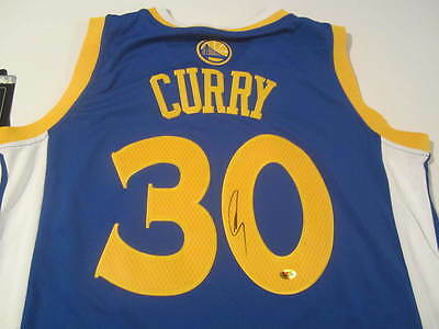 Stephen Curry Signed Jersey Bas