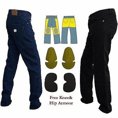 Motorcycle Armour Protective Denim Jeans Reinforced With DuPont™ Kevlar® Fibre