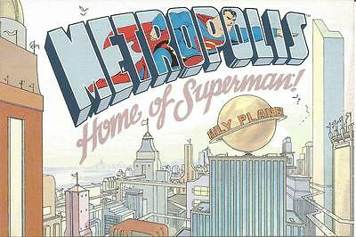 SUPERMAN FOR ALL SEASONS Metropolis Home of Superman! PROMOTIONAL POSTCARD 1998