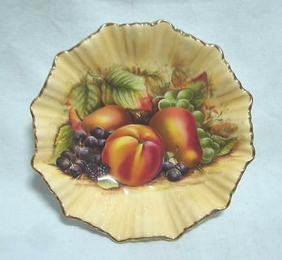 AYNSLEY Orchard Gold fluted jam dish 13.5 cm