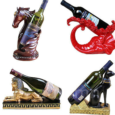 Animal Shape Resin Sculpture Crafts Wine Bottle Rack Holder For Party Home Decor