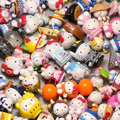 10pc Random mini doesn't repeat Hello kitty Anime action figure collection toys