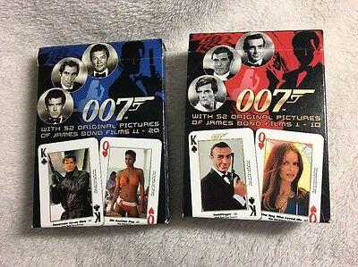 Carta Mundi - JAMES BOND 007 - Movies #1-20 Photo Playing Cards 2 Decks