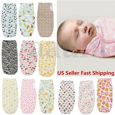Brand 0-3 Months new Baby Infant 100% Cotton Swaddle Wrap Swaddling Blanket