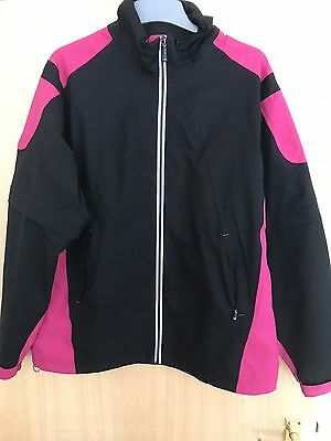 Sunderland Waterproof Golf Jacket Size Large Black And Pink