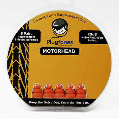 New Replacement Plugs for Plugfones: Motorhead (Foam or Silicone)