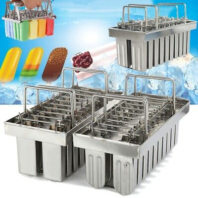 20pcs Stainless Steel Molds Ice Lolly Popsicle Industrial Ice Cream Stick Holder