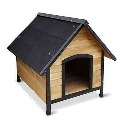 Pet Dog Kennel Puppy House Timber Wooden Cabin Wood Indoor Outdoor Winter Large