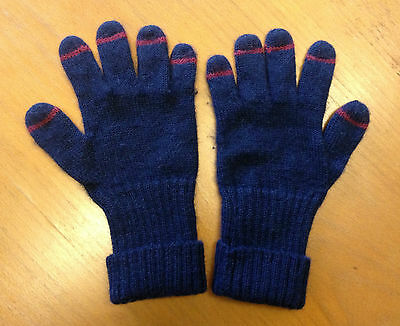 Folk Clothing Alpaca Wool Gloves With Leather Thumb Patch