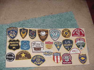 20 USED Obselete 1st Responder Patches Faded Worn Repair Project