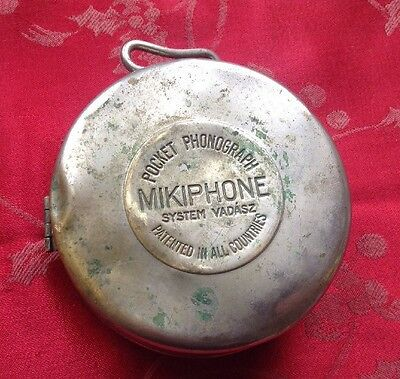Mikiphone Pocket Phonograph Good Movement For Spares Or Repair No Pick Up Head
