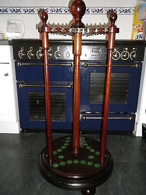 BARGAIN **** Antique Revolving Victorian/Edwardian CUE RACK (holds 21 cues) ****