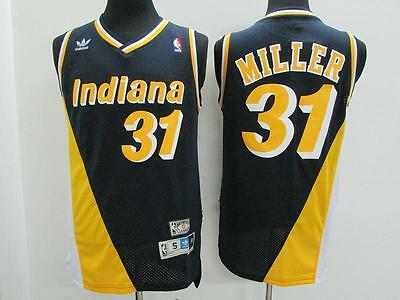 NEW Indiana Pacers Reggie Miller #31 Basketball Blue and Yellow Jersey S-XXL