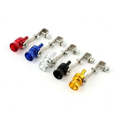 Universal Car BOV Turbo Sound Whistle Simulator Pipe Exhaust Muffler Pipe DS