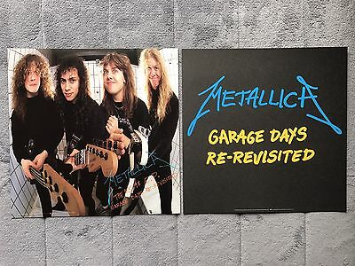 Metallica Garage Days Revisited RARE promo 12 x 12 poster flat '87