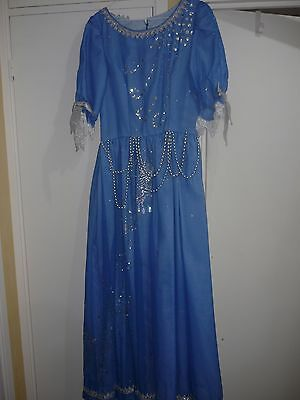 Pantomime fairy dress blue & silver