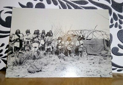 Group in Hostile Camp Under Naiche, Postcard. Indigena Fine Art Publishers Ltd