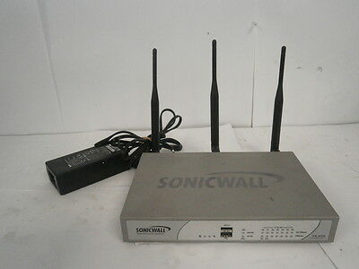 Sonicwall TZ 215 Wireless-N Firewall Security Appliance Router + AC & SOFTWARE *