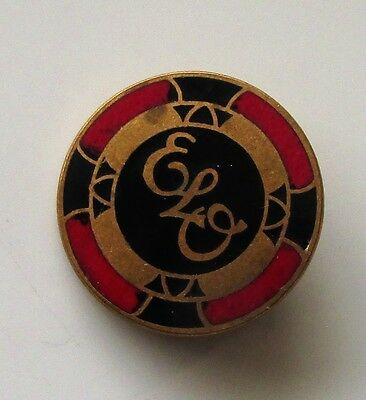 ELO VINTAGE ENAMEL PIN BADGE FROM THE 1970's MADE IN ENGLAND OLD RETRO