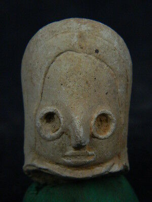 Ancient Teracotta Mother Goddess Head Indus Valley 2000 BC  #TR614