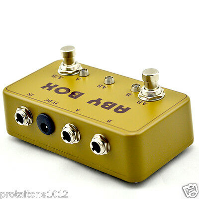 Handmade ABY Switch Box TRUE BYPASS! Amp / guitar AB Green
