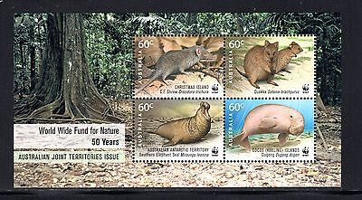 Christmas Is 50th Anniv Worldwide Fund for Nature miniature sheet SG ms704 MUH