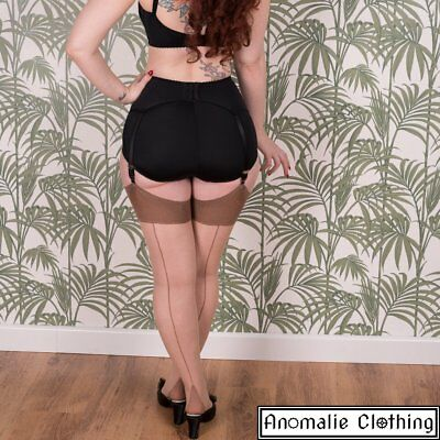 What Katie Did Glamour Seamed Stockings in Champagne and Latte