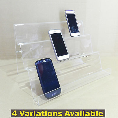 Large 2 Tier 3 Tier Acrylic Displays stands for mobiles phone ,jewelry display