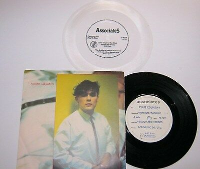 "Associates Club Country 7"" Vinyl & Even Dogs In The Wild Flexi Ex+"