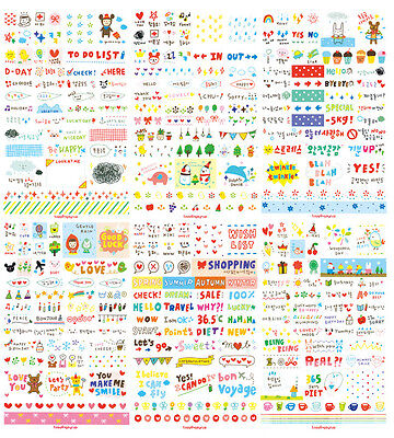 1 SET 6 SHEET 300 STICKERS NEW Korean Craft Sticker, Diary Messages Travel