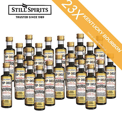 23 x Still Spirits Top Shelf Kentucky Bourbon Home Brew Essence