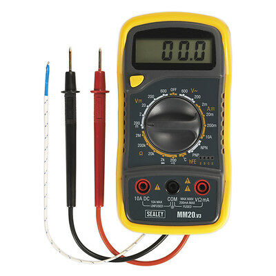 Sealey Digital Multimeter 8 Function Thermocouple AC DC Voltage Current Temp