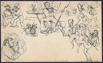 1840 Spooner Envelope No 13 Soldiers and Sailors Very Fine Mulready Caricature