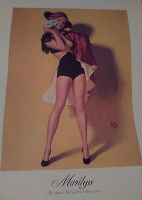 """Marilyn """" The Spanish Girl """"  Poster by Earl Moran,1949 - new 19"""" x 24"""" With COA"""