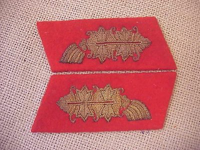 Original Wwii German General Pair Of Collar Tabs / Patches
