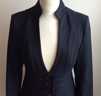 Next .. Fitted Work Suit .. Tailored .. Uk Size 6-8 Petite ..  Skirt & Jacket