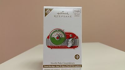 Hallmark Magic Ornament 2012 North Pole Countdown - Countdown Radio #QXG4964