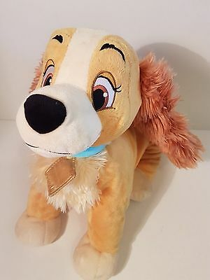 """Disney Store 13"""" Lady from Disney Lady and The Tramp Soft Plush Bean toy"""