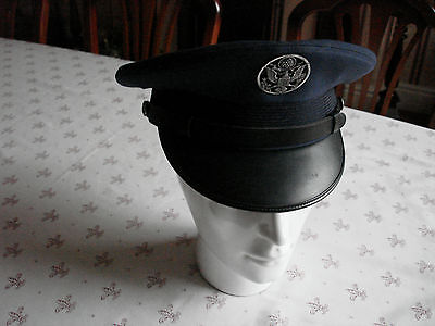 Cold War Era Usaf United States Air Force Enlisted Mans Tropical Peaked Cap Hat