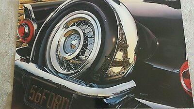 Vintage poster by REYNOLDS high quality glossy paper NOS Ford Thunderbird 1956