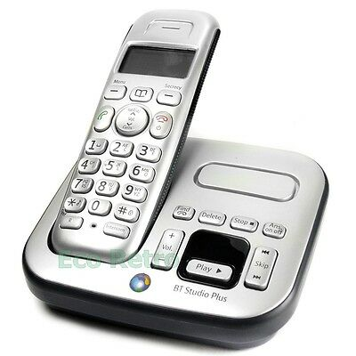 BT Studio 4500 Single DECT Digital Cordless Phone with Answer Machine & Charger