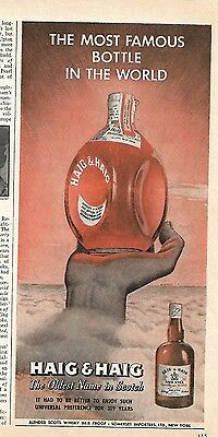 1946 Vintage Haig & Haig Five Star Scotch Most Famous Bottle In The World Ad