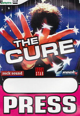 THE CURE original pass PRESS Greatest Hits Tour Italy 2002 (BA.93)