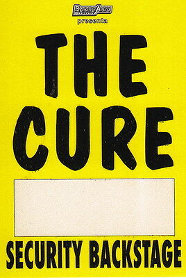 THE CURE original pass SECURITY BACKSTAGE live Italy 1990s (BA.219)
